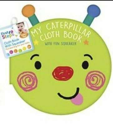 First Steps My Caterpillar Cloth Book with Fun Squeaker image 1
