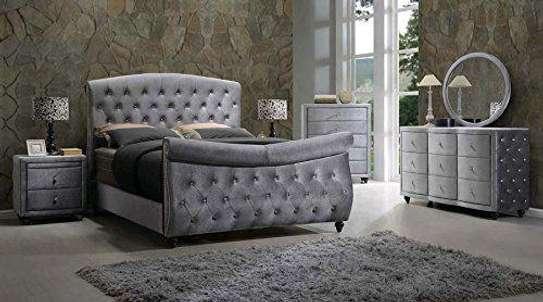 Modern Grey chesterfield bed designs kenya/Latest bed ideas kenya/Bed ideas/Unique beds/Latest beds/Chester beds kenya image 1