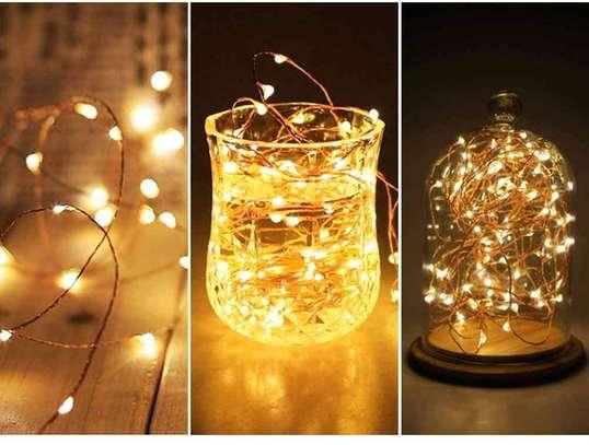 100 LED lights glow a WARM WHITE light image 1
