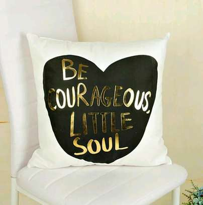 BLACK AND GOLD IMPORT BRANDED THROWPILLOWS image 1