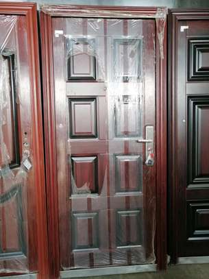 Imported Double and single security steel doors image 3