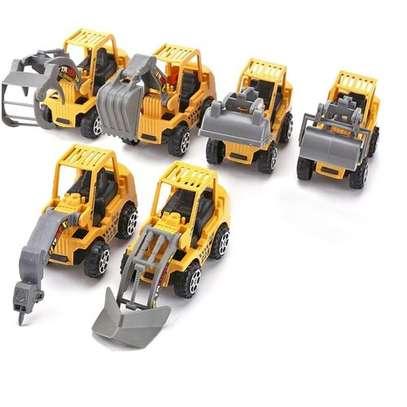 6pcs Vehicle Sets Construction Kit Kids Mini Engineering Car image 1