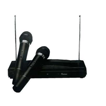 2 Channel Wireless Microphone System - Black image 1