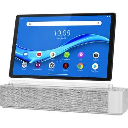 "Lenovo 10.3"" Smart Tab M10 FHD Plus 64GB Tablet with Alexa Smart Dock (Wi-Fi, 2nd Gen, Platinum Grey) image 1"