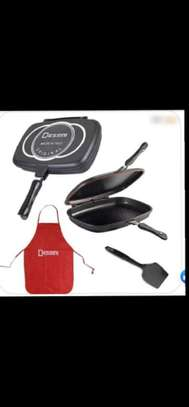 Double Sided Grill Non-stick Pressure Pan - Black image 1