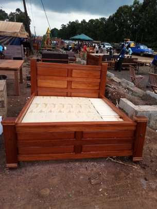 Wooden Bed. image 2