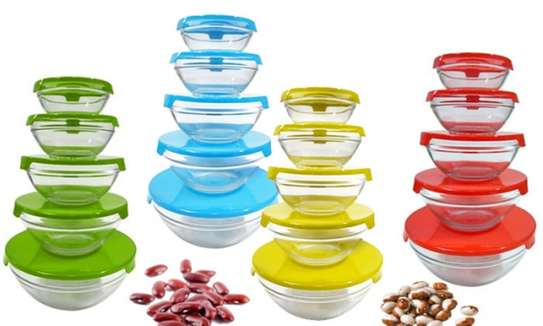 Storage Glass Bowls with Lids - Set of 5 image 2