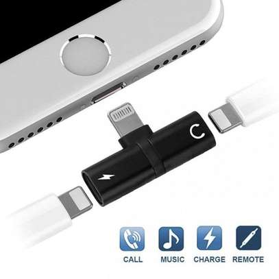 2 In 1 Splitter Adapter For iPhone (Charging + Music Player) image 4