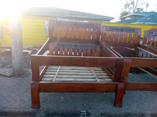 Ready Made Affordable Quality 5by6 Hardwood Bed image 1