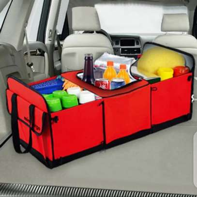 Foldable car boot organizer image 1