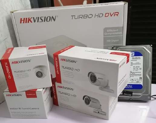 Hikvision 3 CCTV Cameras Security Complete System image 1