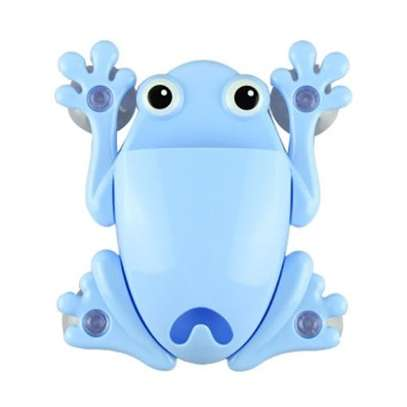 Toothbrush Holder Toothpaste Container Creative PVC Decorations Bathroom Suction Hooks - Blue