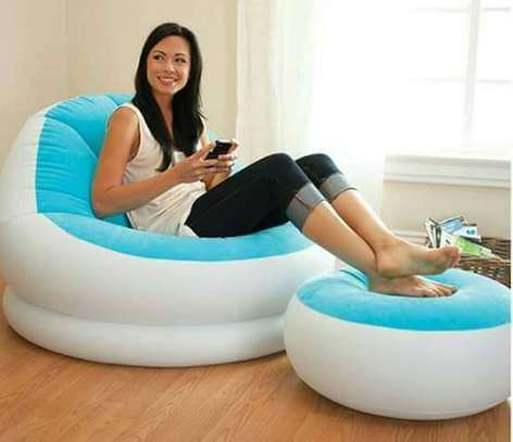 inflatable seat with foot rest image 5