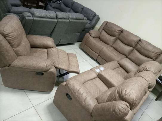 Chelsea grey/brown recliner image 2