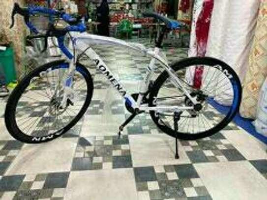 White-blue Omena bike/bicycle
