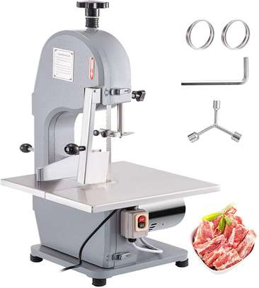 Commercial 650W Electric Meat Band Saw Bone Sawing Machine/Slicer for cutting frozen meat, Sawing pig's trotters, beefsteak with saw blade image 6