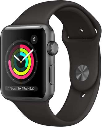 Apple Watch Series 3 (GPS, 42mm) - Space Gray Aluminum Case with Black sport Band image 1