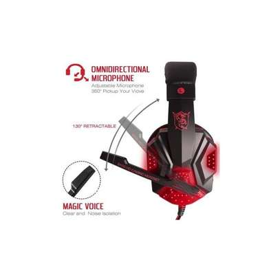 Share this product Plextone Gaming Headset for PS4 X Box Laptop Noise Isolation Gaming Headphones - Black and red) image 3