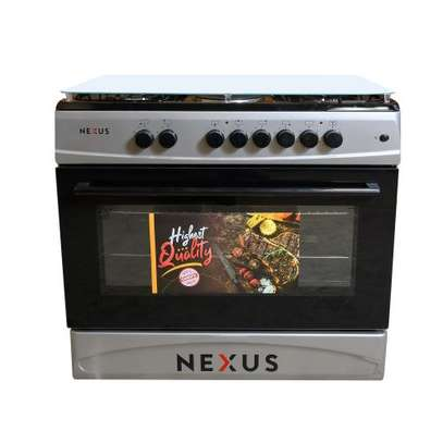 Nexus NXK 9000 4+2, 4 Gas + 2 Hot Plate, Electric Oven - Silver image 1