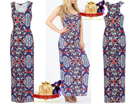 Geometric Racerback Maxi Dresses image 2