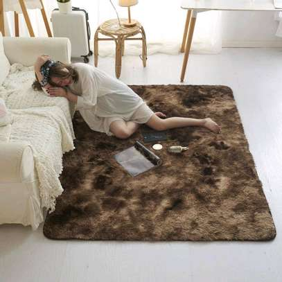 5 by 8 patched Fluffy carpets image 1