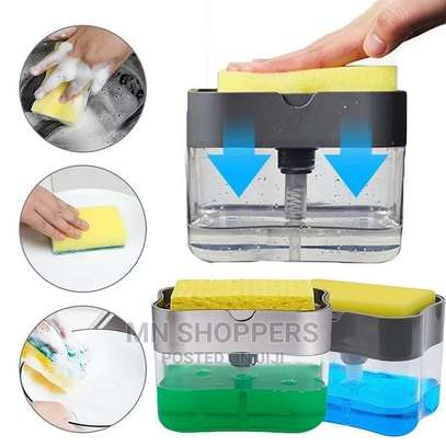 Press Soap Dispenser and Sponge image 1