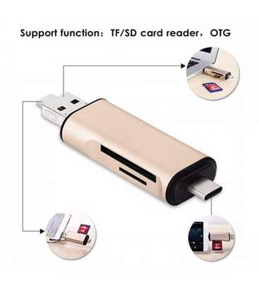 Earldom 3 in 1 OTG Type C Micro USB Adapter TF SD Card Reader image 2