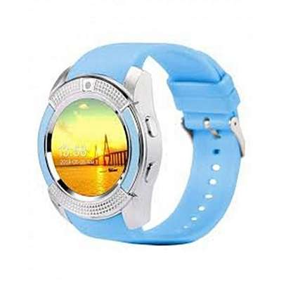 """V8 1.22"""" Round Screen MTK6261 IP65 Android Bluetooth Smart Watch With Sim card Toolkit - Black image 2"""