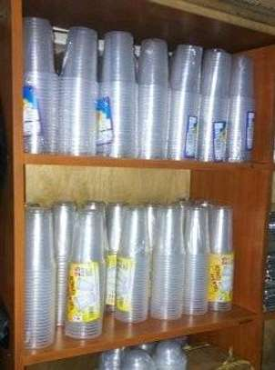 25pc disposable glass /25pc plastic glass /300ml disposal glass