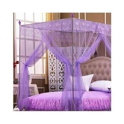 Mosquito Net with Metallic Stand 4 by 6 - Purple image 1