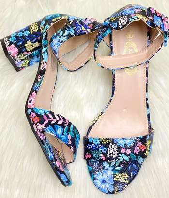 Floral Chunky heels image 10