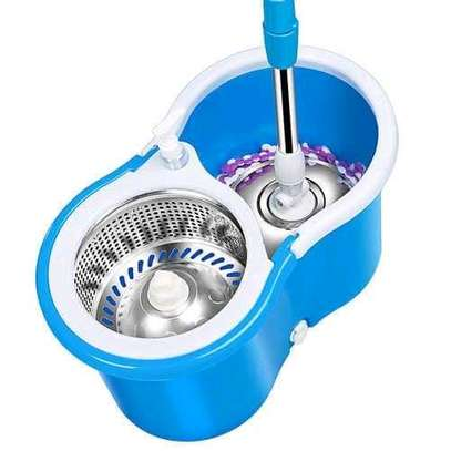 Spin mop with metallic spinner image 2
