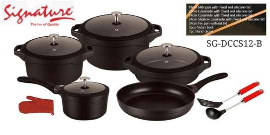12 pcs Die Cast Cookware sets image 2