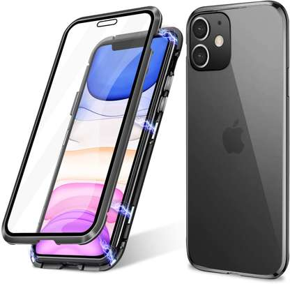 Magnetic Double-sided 360 Full Protection Glass Case for iPhone 11/11 Pro 11 Pro Max image 1
