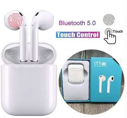 i11 Bluetooth twin headset with touch control,powerful base and long standby time image 1