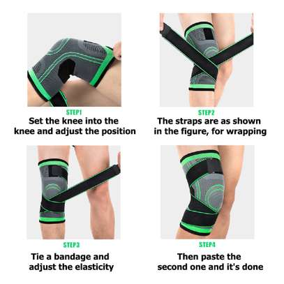 Pressure Knitting Knee Protector for Running and Fitness image 4