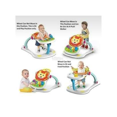 Huanger 4 in 1 Multifunctional Baby Walker-Multicolor plus free gift image 2
