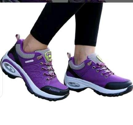 Ladies fancy laced sneakers image 1