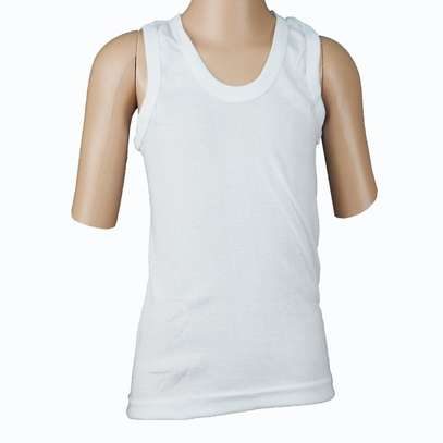3pack white kids cotton vests image 2