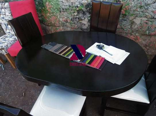 Black 4 Seater Dining Table. image 9