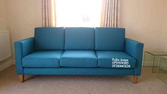 Velvet sofas/blue sofas/three seater sofas image 1