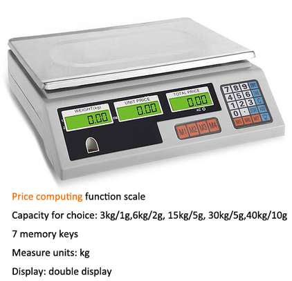 digital 40kg ABS plastic new model ACS system electronic scale. image 1