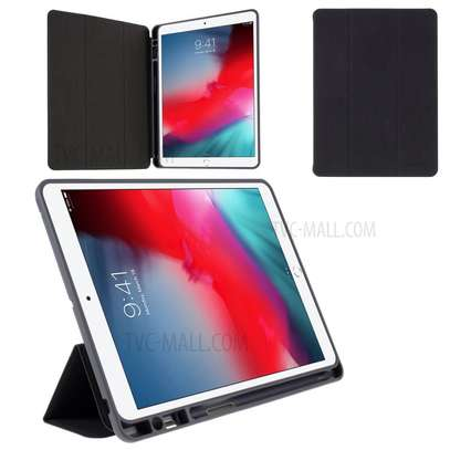 MUTURAL Auto Wake Sleep Stand Smart Leather Tablet Case for iPad 10.2 With Pencil Holder image 3