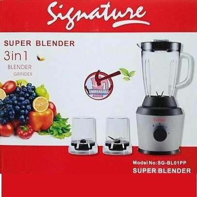 Signature 3 in 1 Blender with Grinder - SG-BL01PP image 1