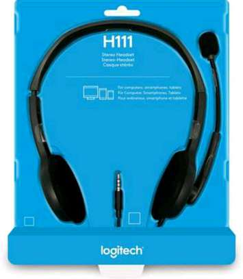 Logitech stereo headphones H111 image 1