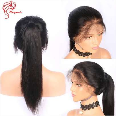 High quality semi human lace wig