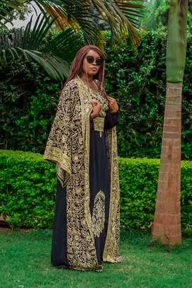 Belted Kaftan Dress & Matching Kimono image 2