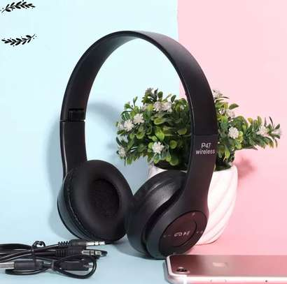 Headphones Bluetooth Headset With TF Mic 3.5 jack pin for IOS/Android image 1