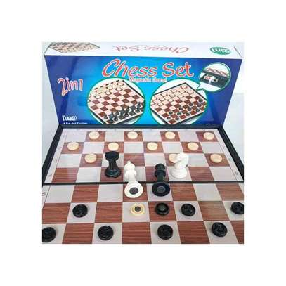 2 in 1 Chess & checker image 1