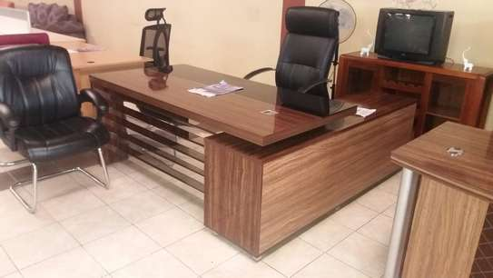 Executive Office Desk, 1.8M With Side Return image 1